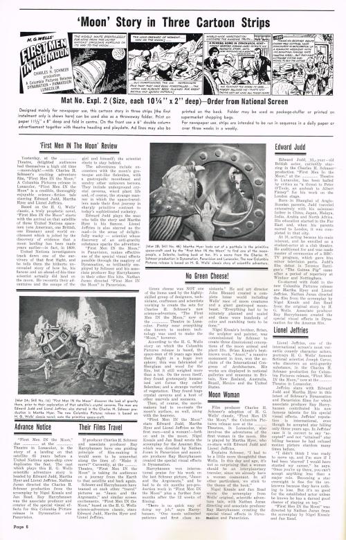 First Men in the Moon Pressbook 00