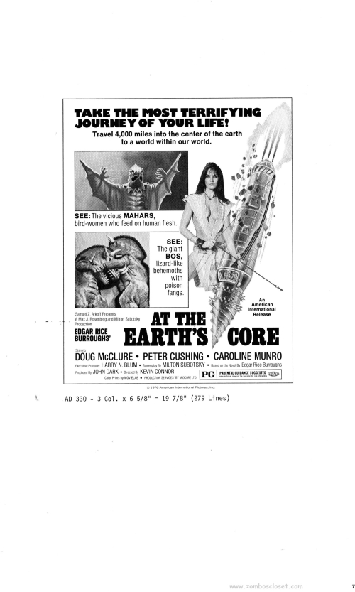 At the Earth's Core Pressbook