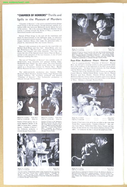 Chamber of Horrors Pressbook 01