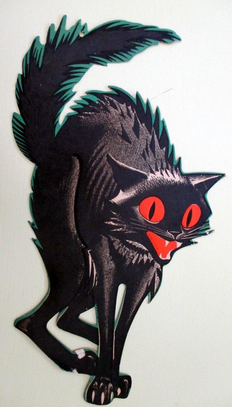 Halloween black cat die cut
