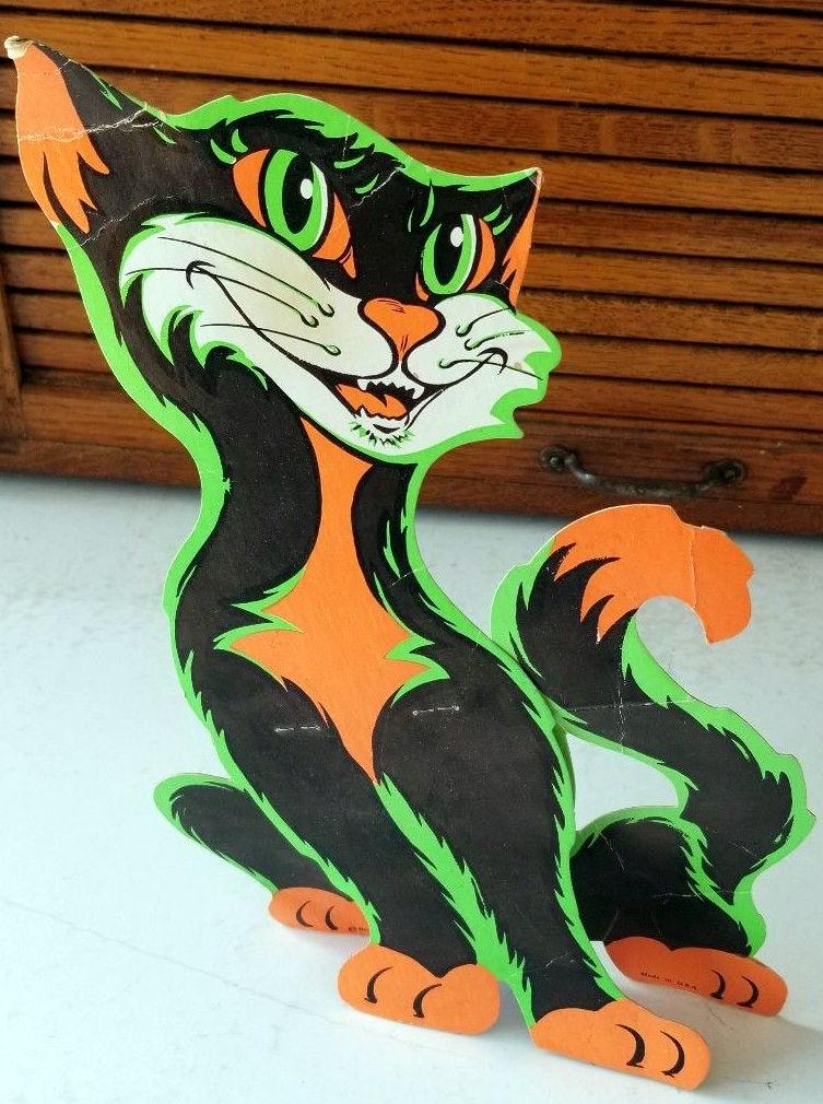 Halloween cat die cut