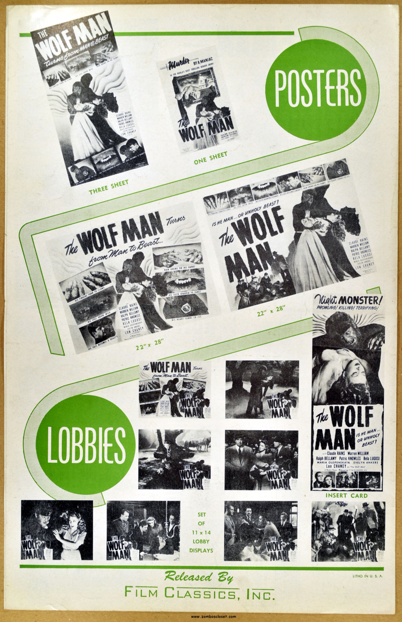 The Wolf Man Realart Pressbook 01