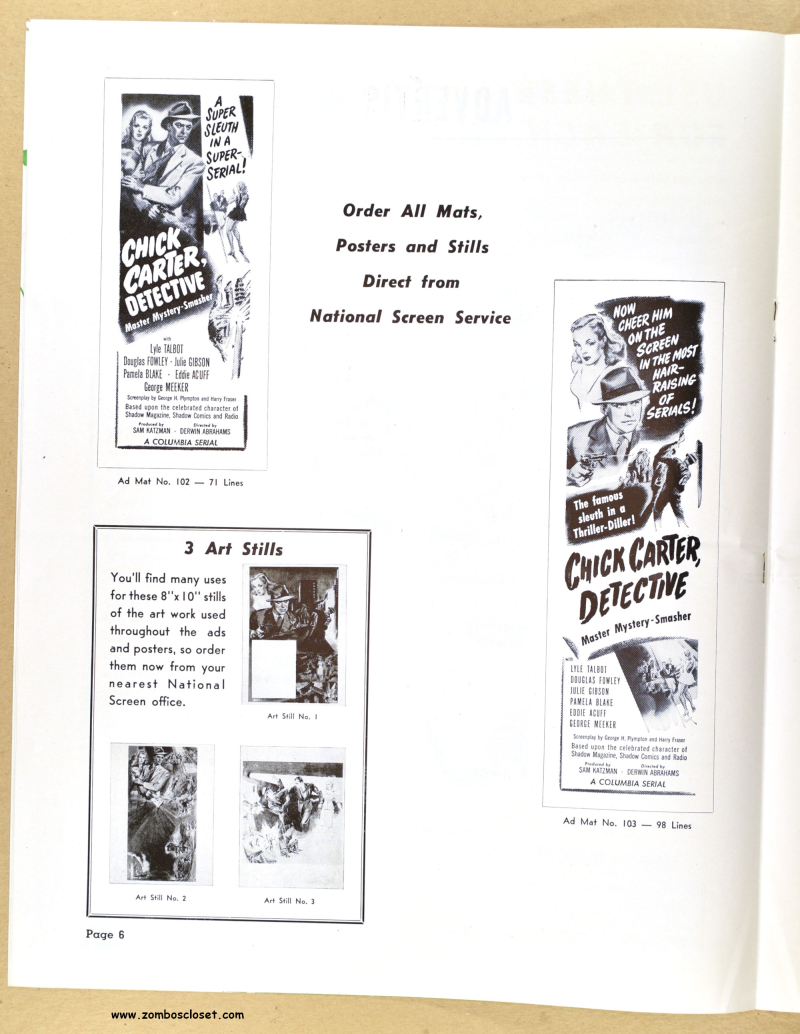 Chick Carter  Detective Pressbook 01