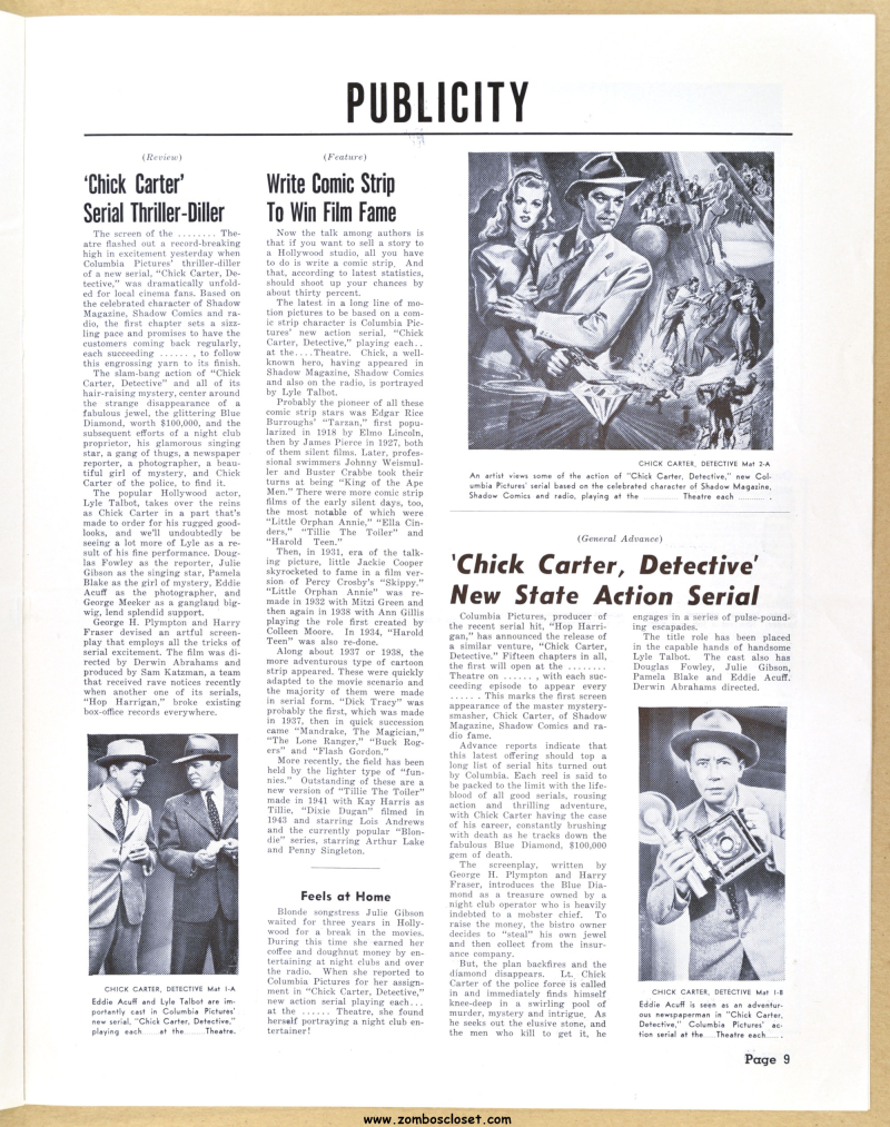 Chick Carter  Detective Pressbook 07
