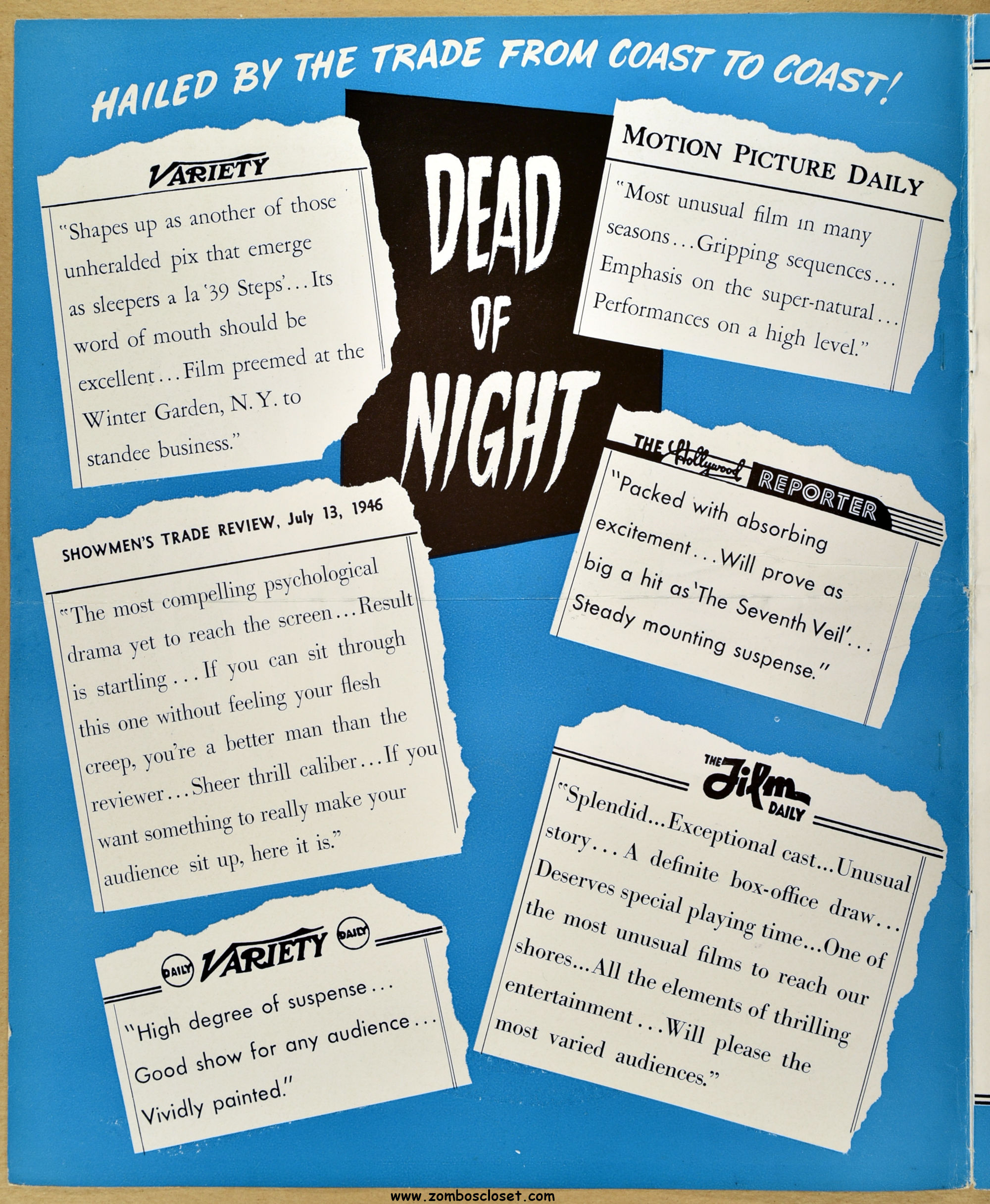 Dead of Night (1945) Pressbook (From Zombos' Closet)