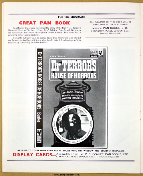 Dr Terrors House of Horrors Pressbook14