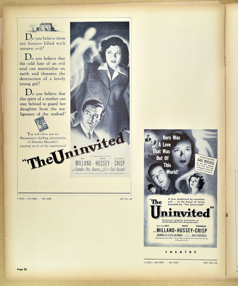The Uninvited Pressbook 20