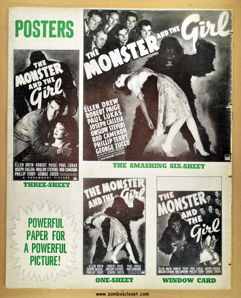 Monster and the Girl Pressbook 17