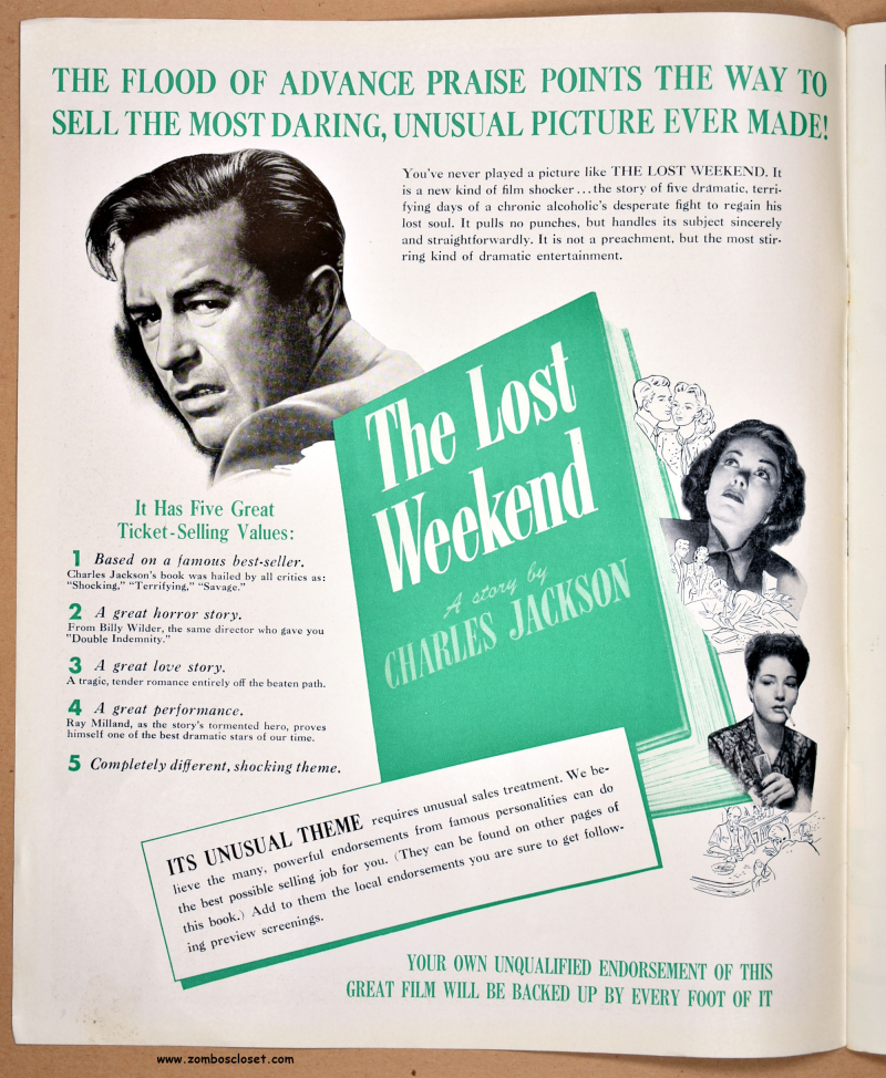 The Lost Weekend Pressbook 01