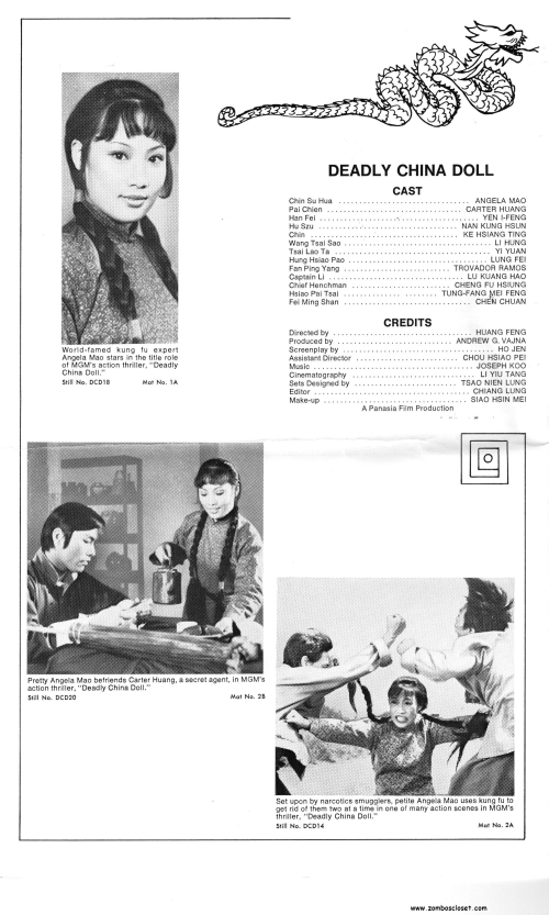 Deadly China Doll Pressbook