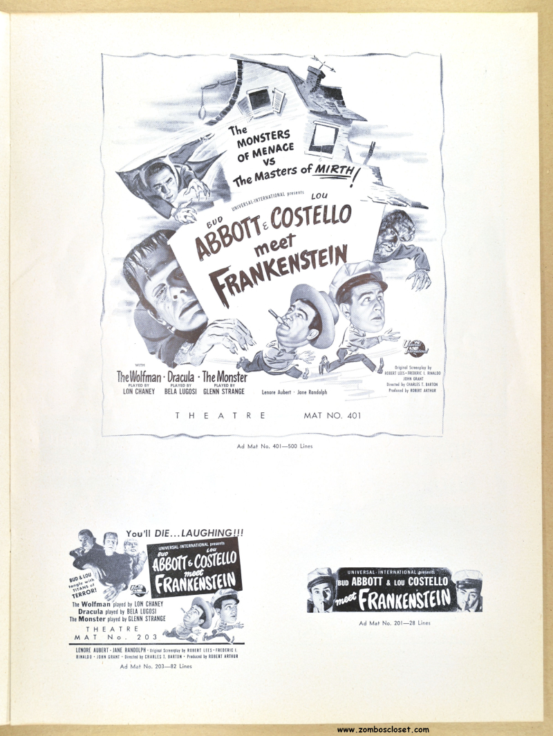 Abbott and Costello Meet Frankenstein Pressbook 01