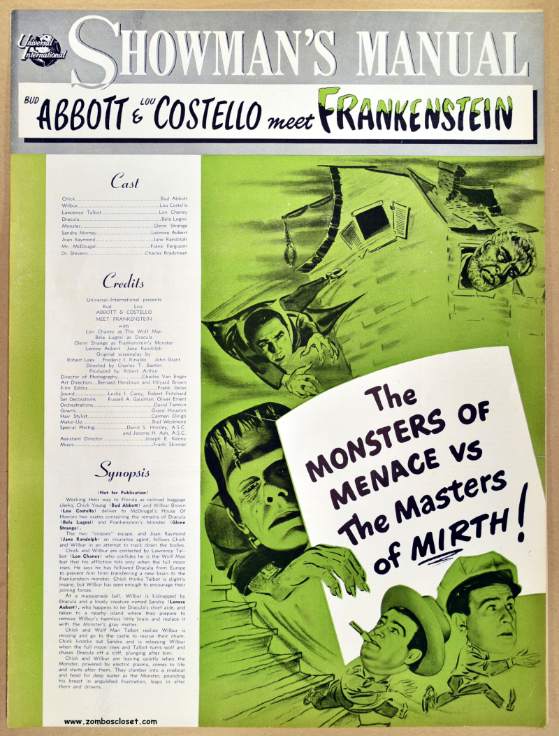 Abbott and Costello Meet Frankenstein Pressbook 01