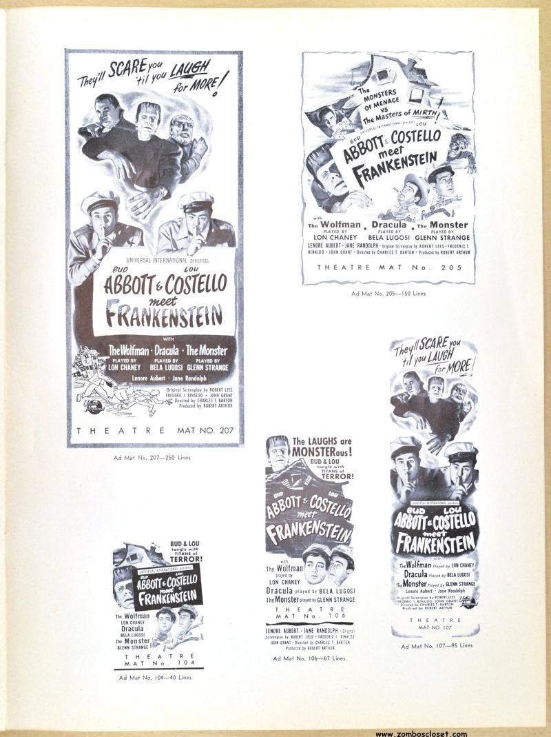 Abbott and Costello Meet Frankenstein Pressbook 07