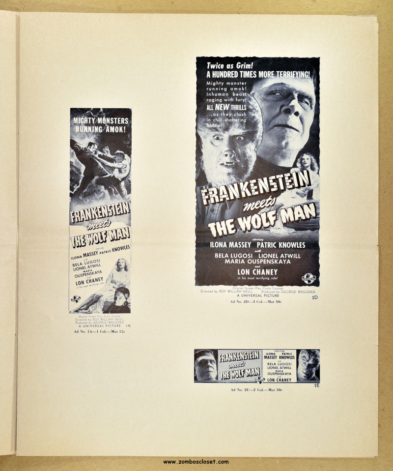 Frankenstein Meets the Wolf Man Ad Mat 01