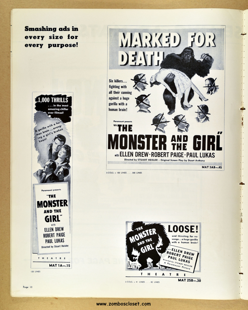 Monster and the Girl Pressbook 09