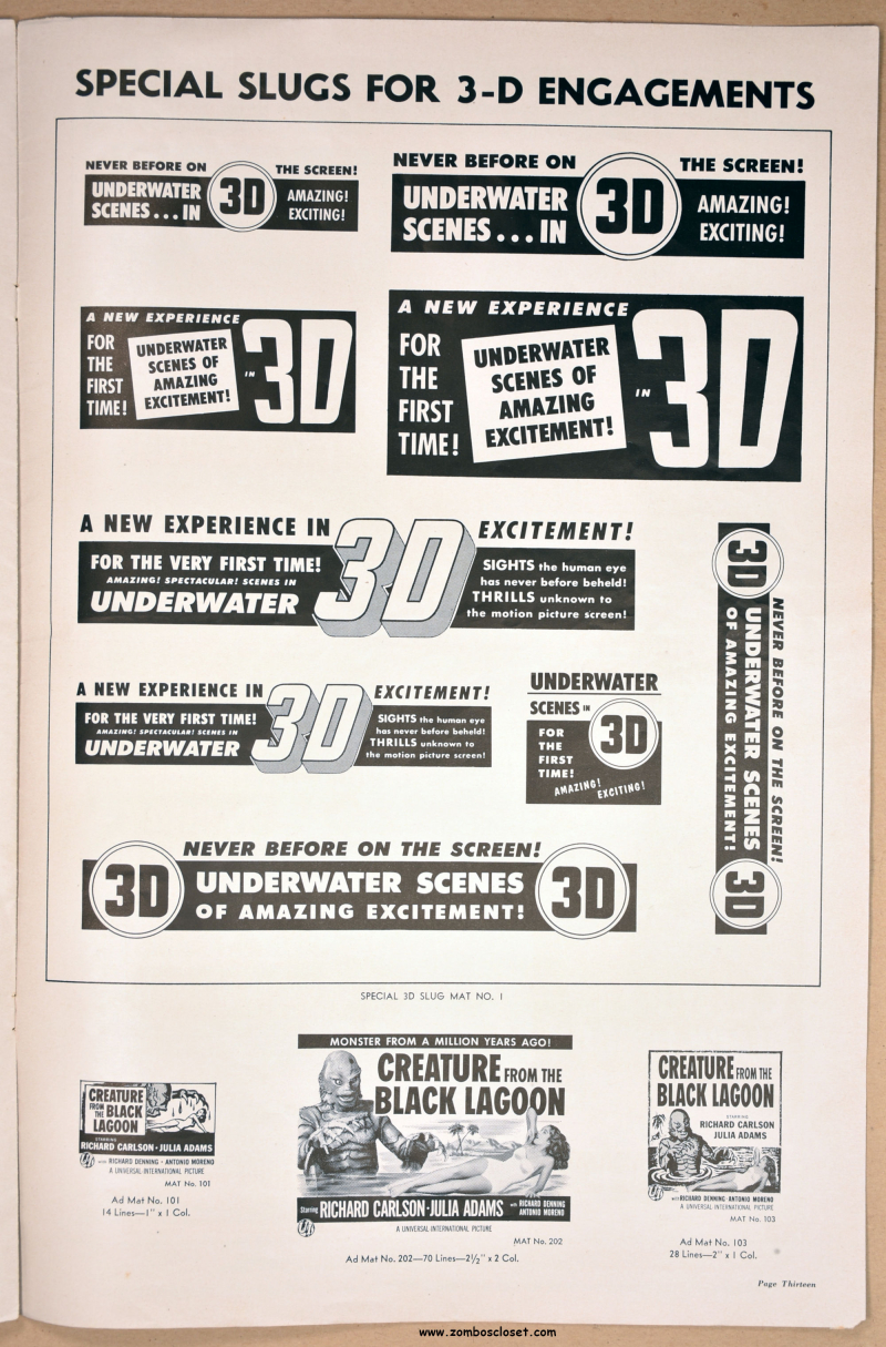 Creature from the Black Lagoon Pressbook 09