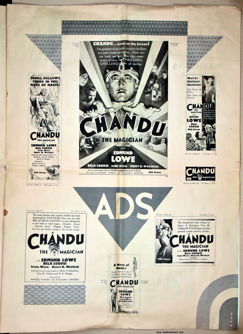 Chandu the Magician Pressbook 01
