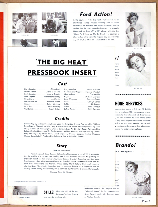 The Big Heat (1953) Pressbook (From Zombos' Closet)