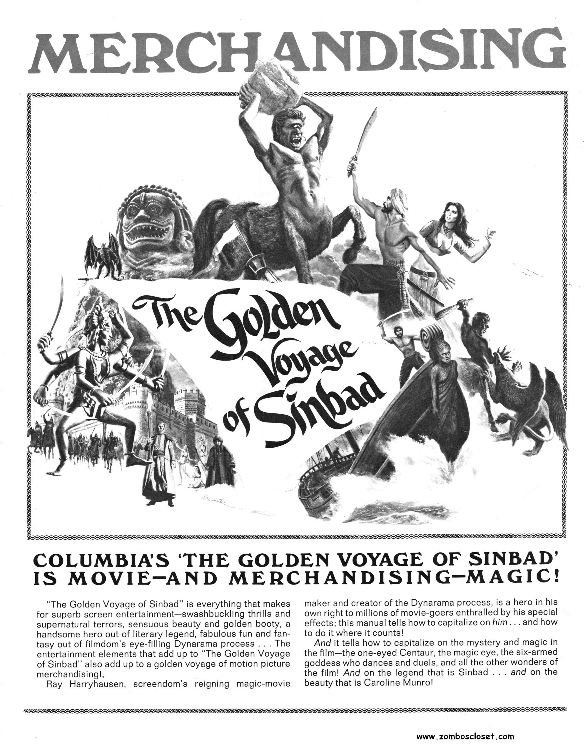 The Golden Voyage of Sinbad (1973) Pressbook (From Zombos