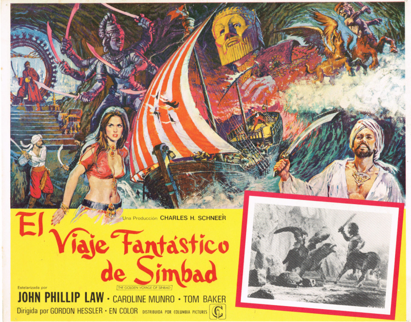 Golden Voyage of Sinbad Lobby Card