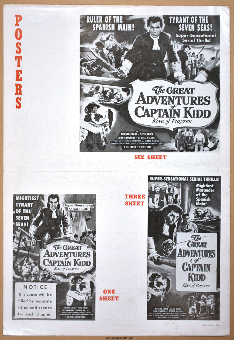Great Adventures of Captain Kidd Pressbook 09