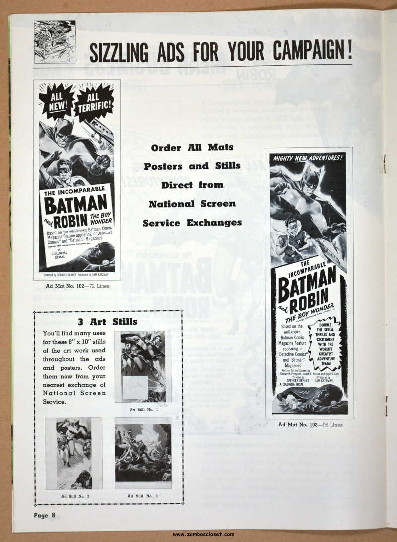 New Adventures of Batman and Robin Pressbook 01