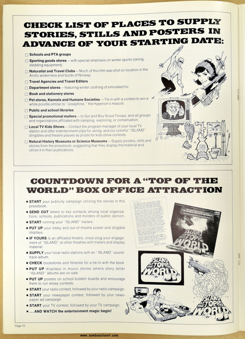 Island at the Top of the World pressbook 09