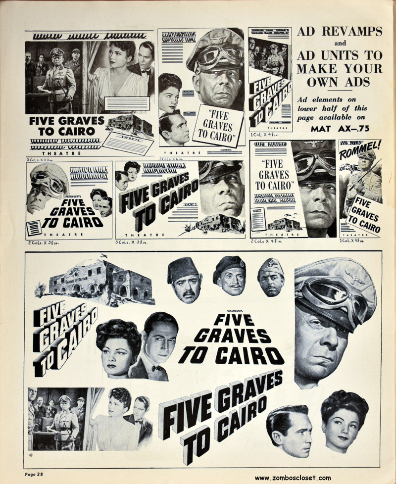 Five Graves to Cairo Pressbook 27