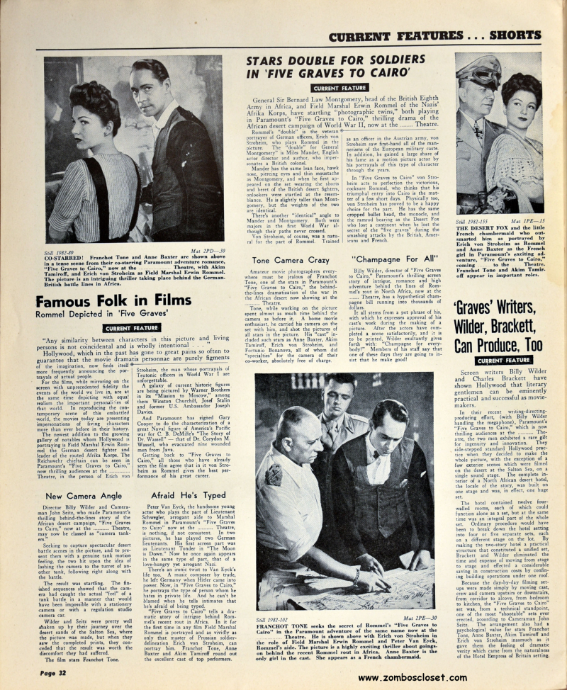 Five Graves to Cairo Pressbook 32