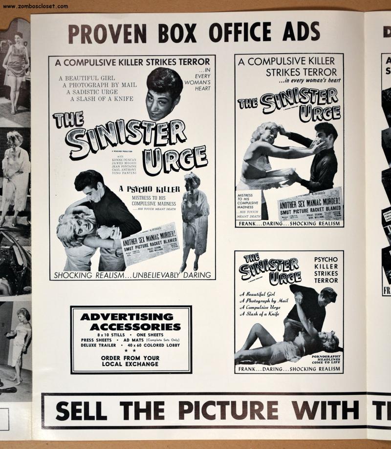 The Sinister Urge Pressbook 1