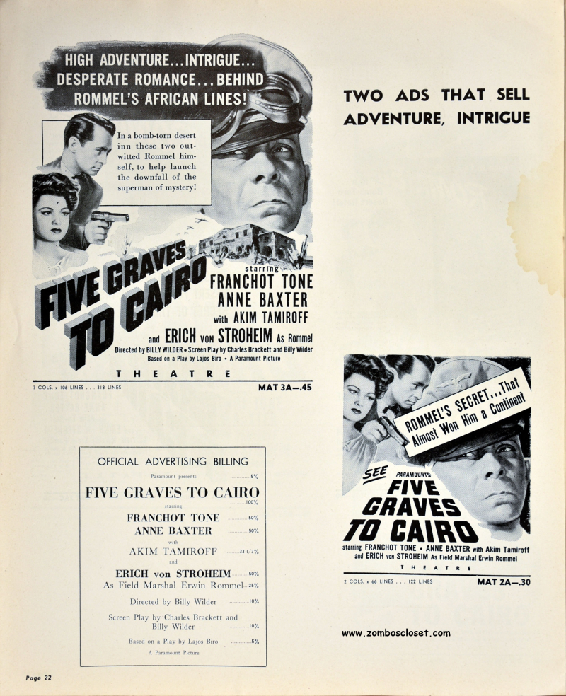 Five Graves to Cairo Pressbook 17