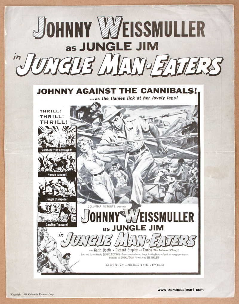 Jungle Man-Eaters Pressbook 1