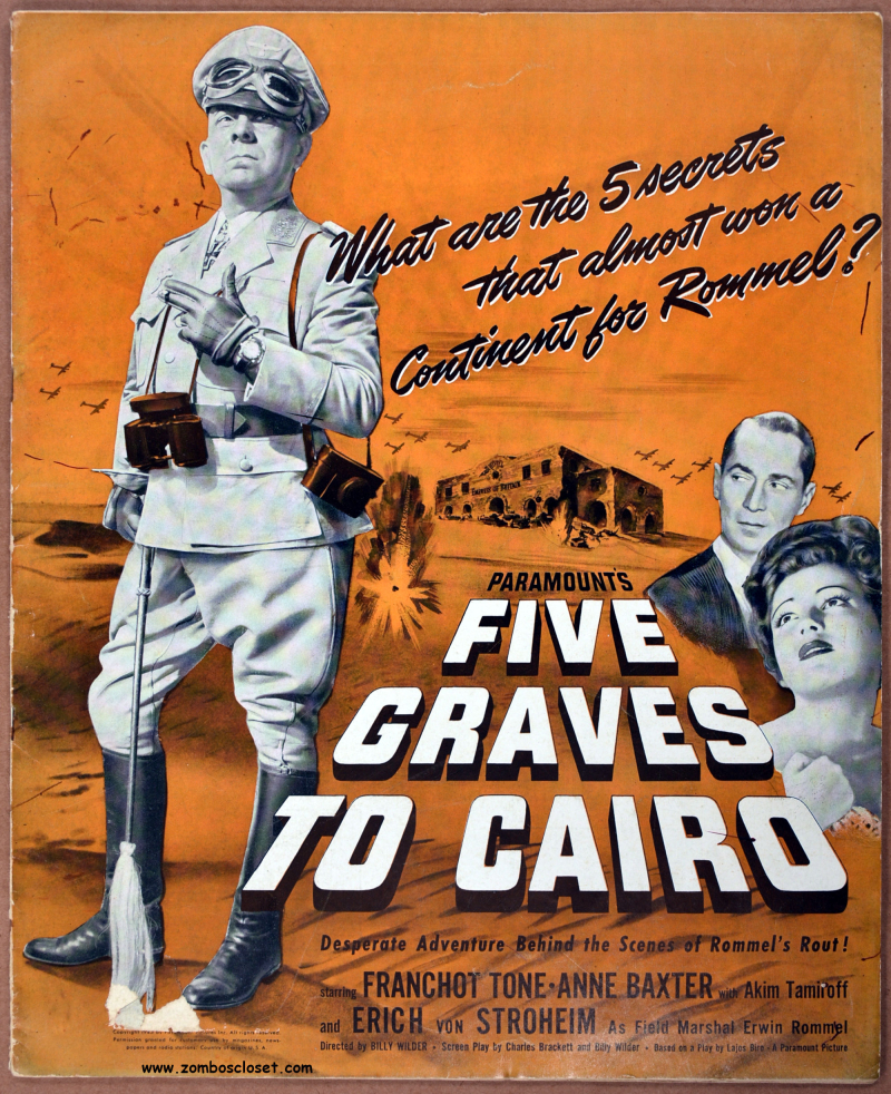 Five Graves to Cairo Pressbook 01