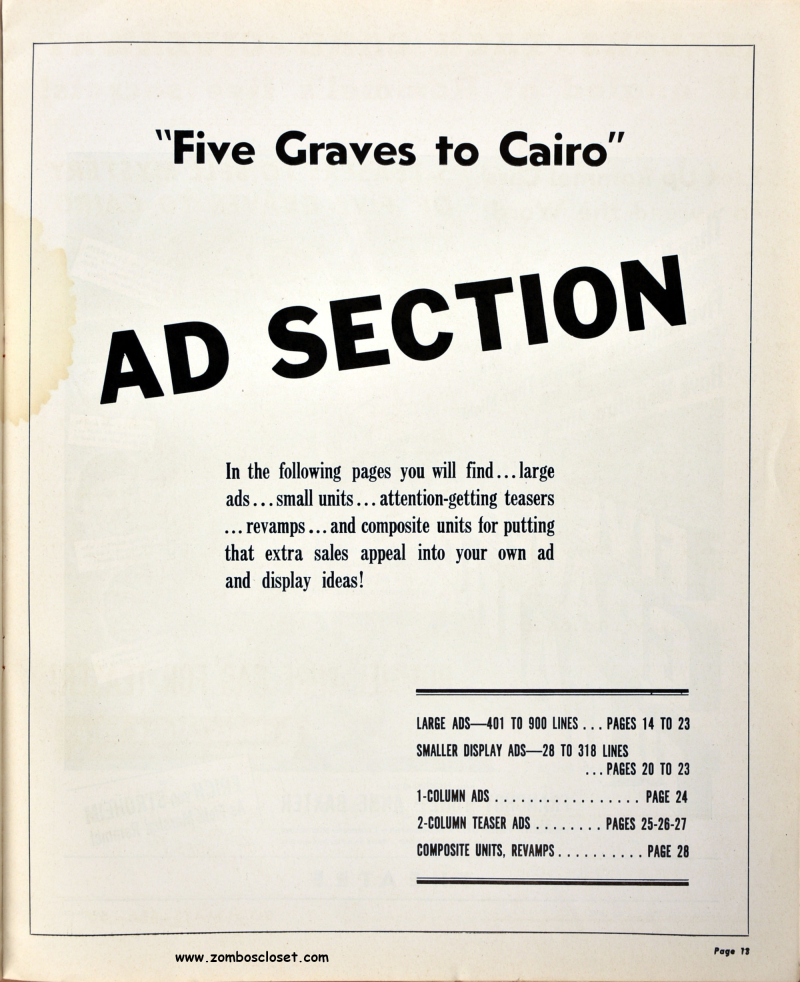 Five Graves to Cairo Pressbook 09