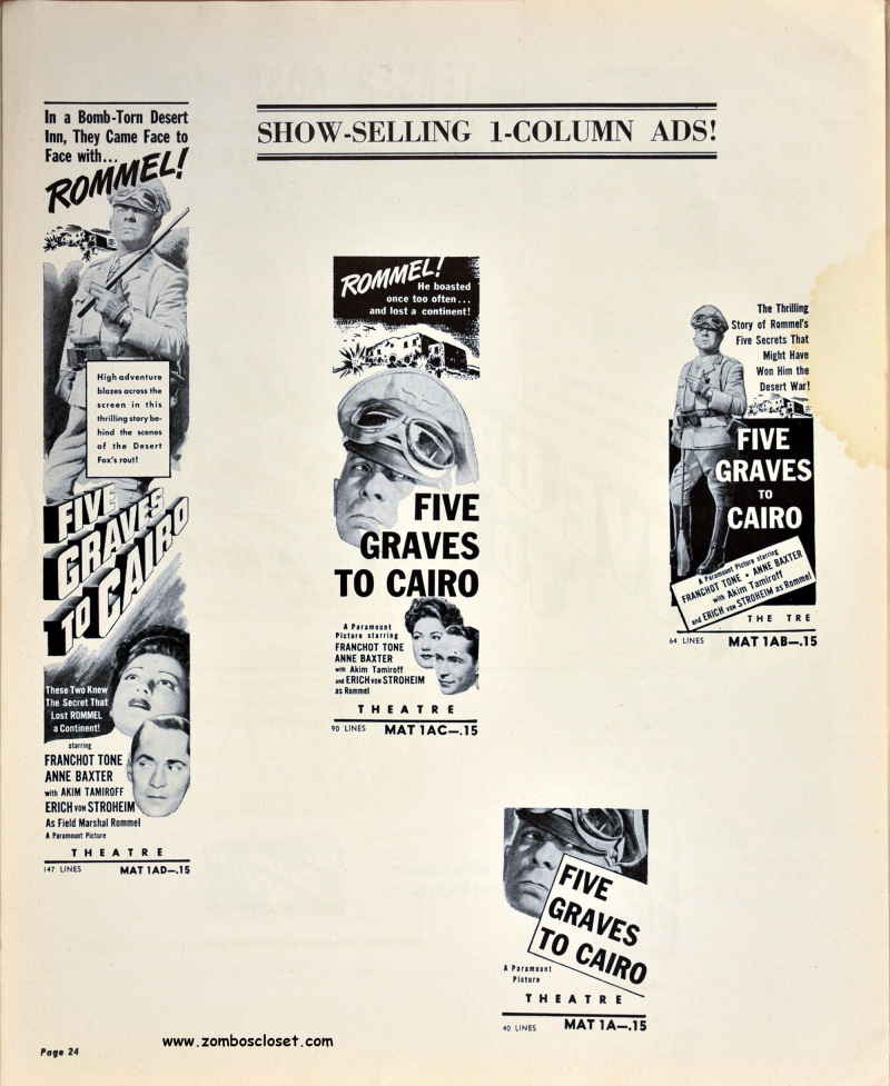 Five Graves to Cairo Pressbook 24