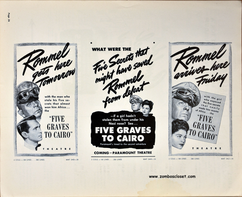 Five Graves to Cairo Pressbook 25