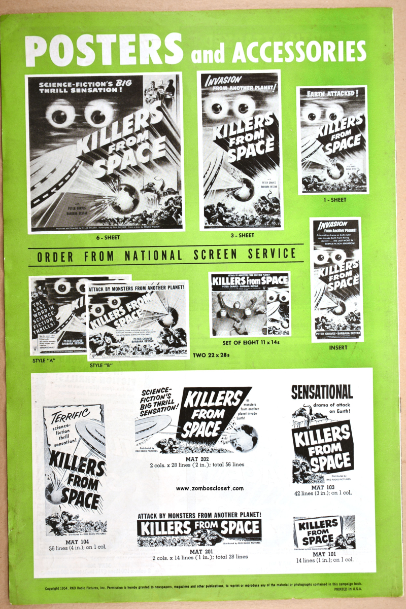 Killers From Space Pressbook 01