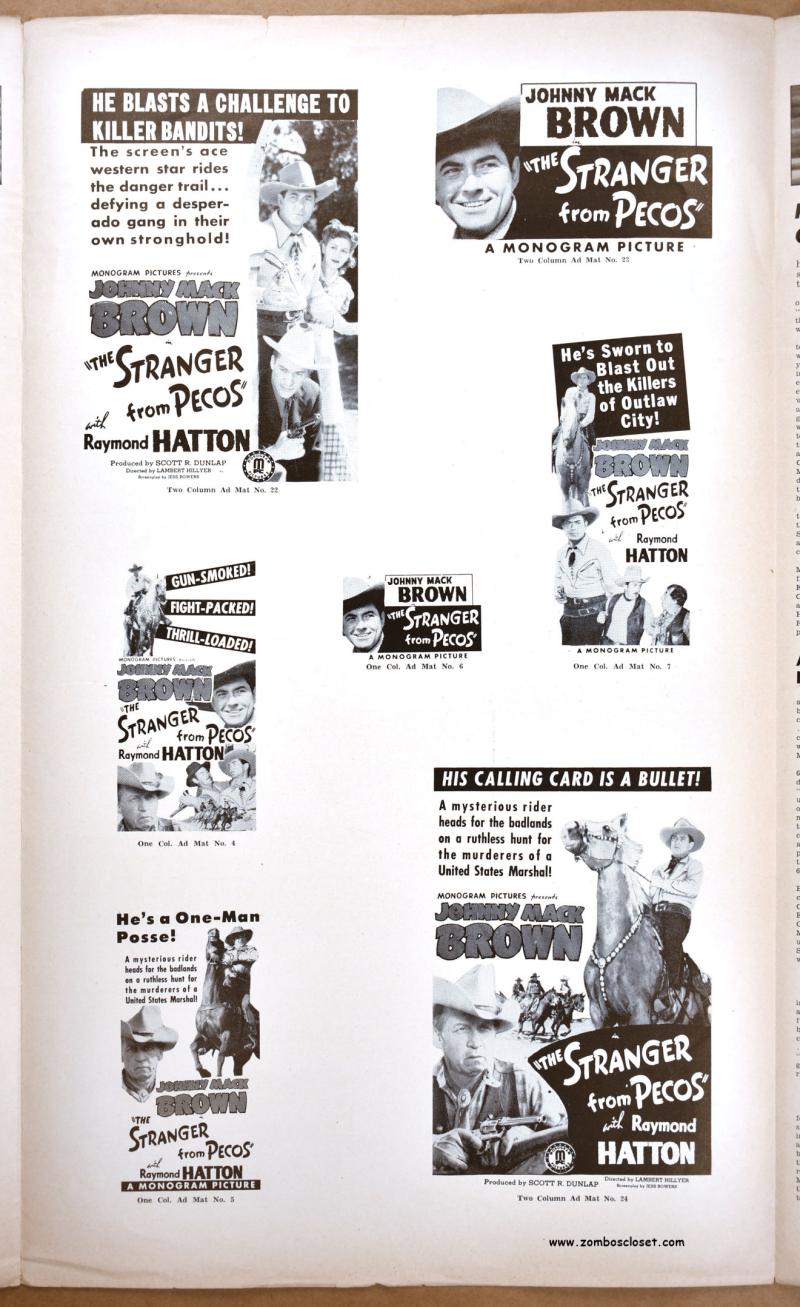 Stranger From Pecos Pressbook 1