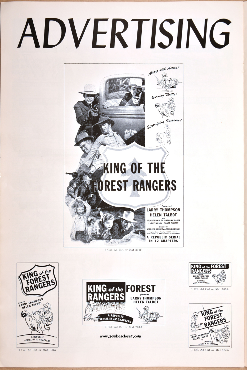 King of the Forest Rangers Pressbook 01