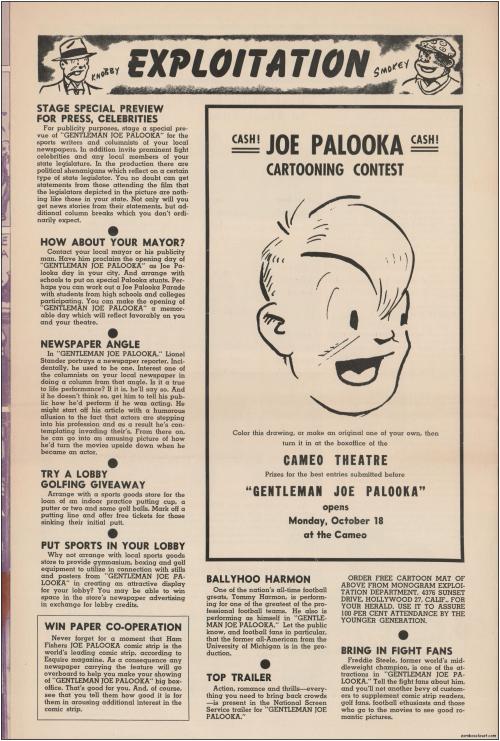 Gentleman Joe Palooka Pressbook04