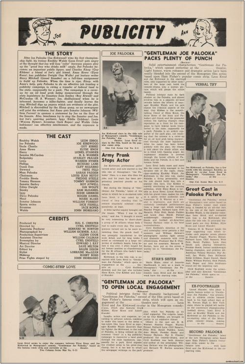 Gentleman Joe Palooka Pressbook09
