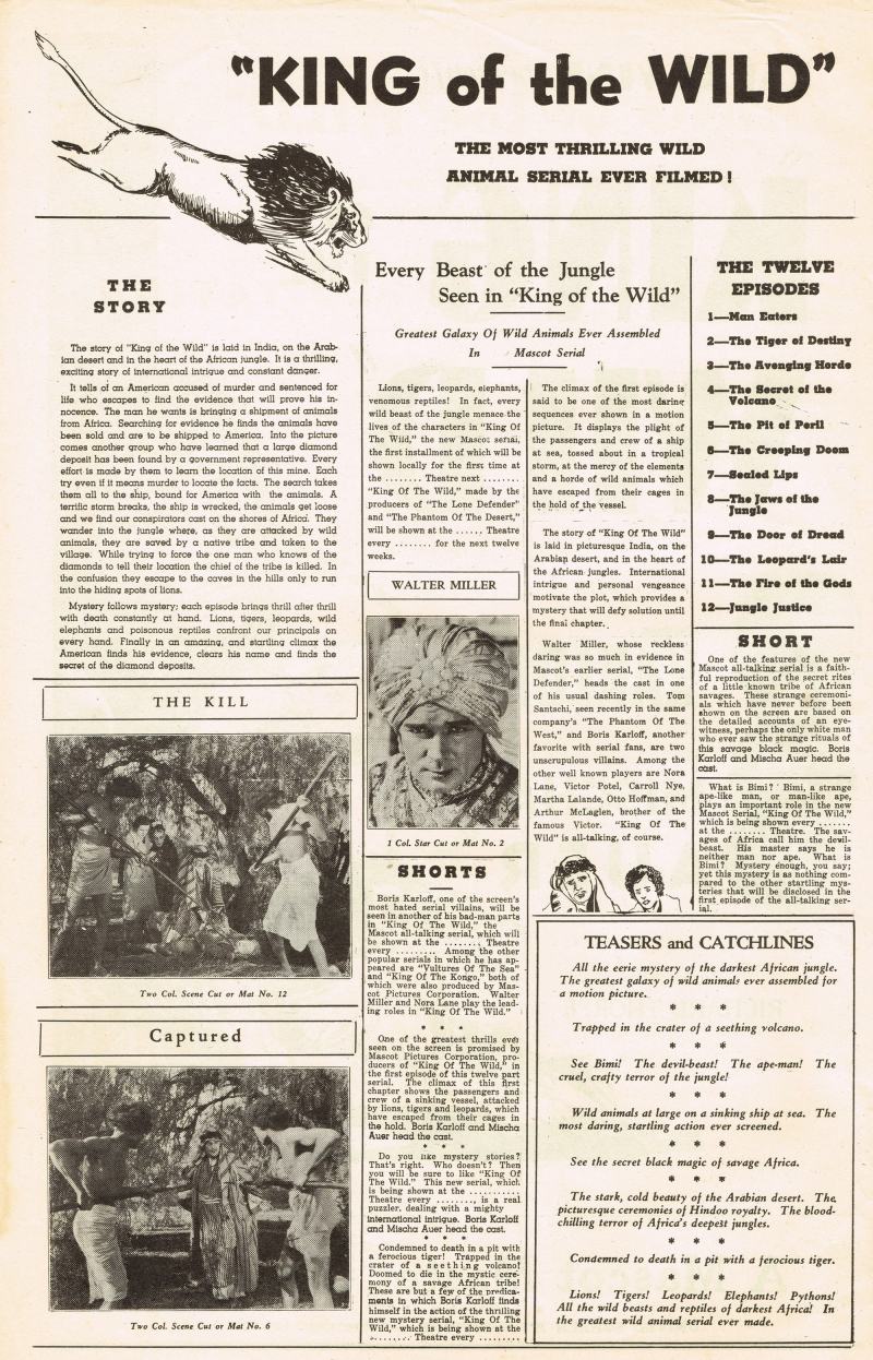 King of the Wild 1931 Pressbook_02