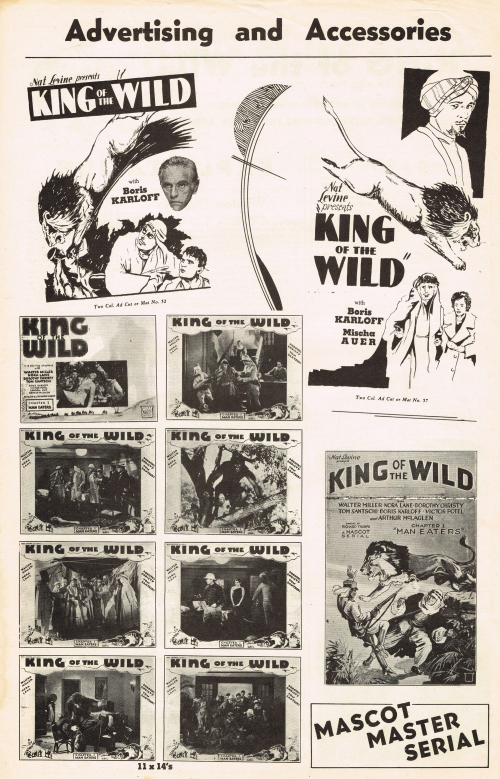 King of the Wild 1931 Pressbook_03