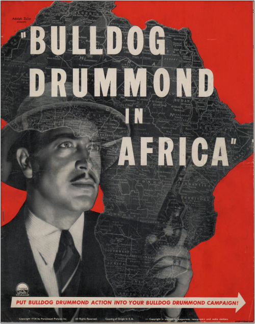 Bulldog Drummond in Africa  Pressbook001