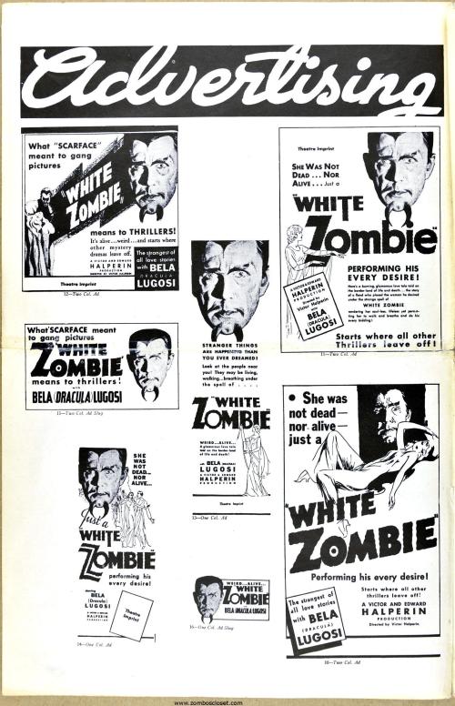 White Zombie pressbook 02