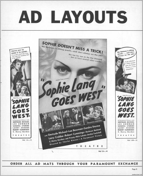Sophie Lang Goes West Pressbook09