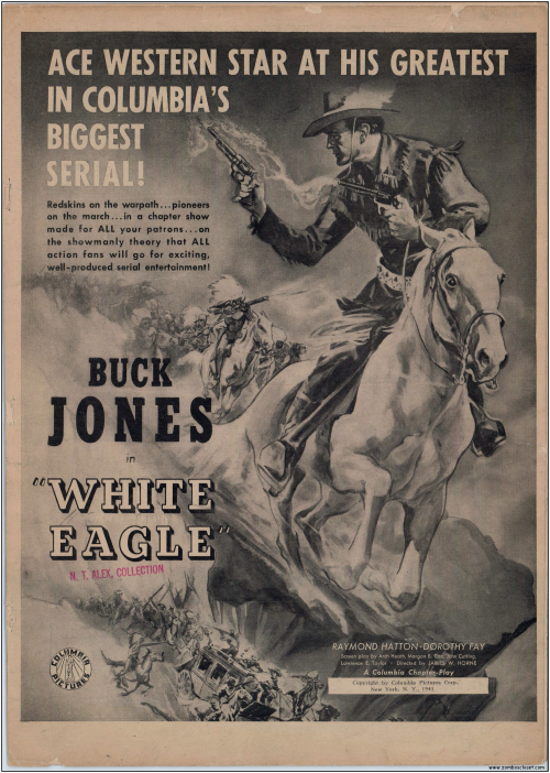 Buck Jones White Eagle Serial  Pressbook001