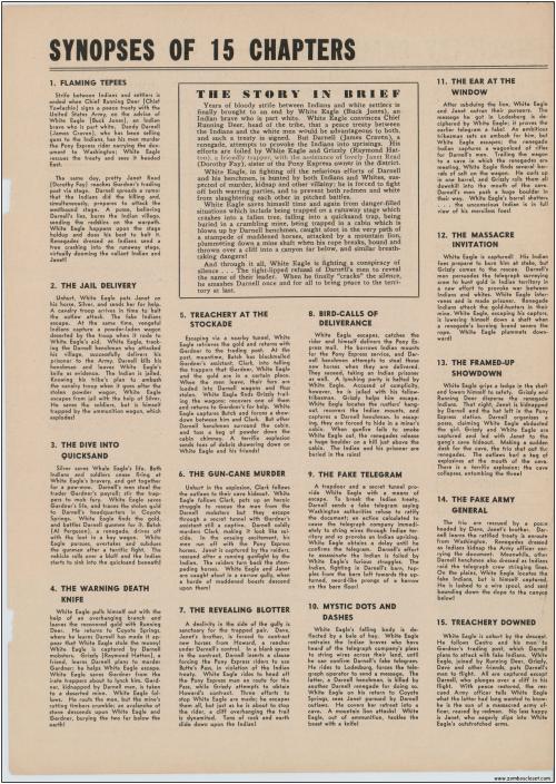 Buck Jones White Eagle Serial  Pressbook001