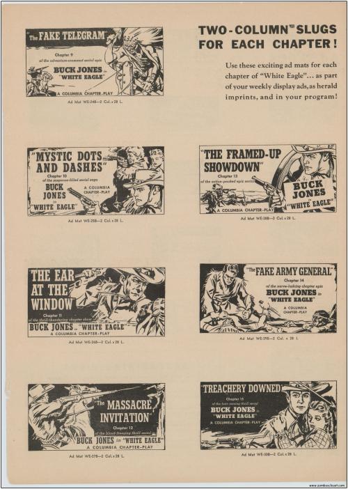 Buck Jones White Eagle Serial  Pressbook009