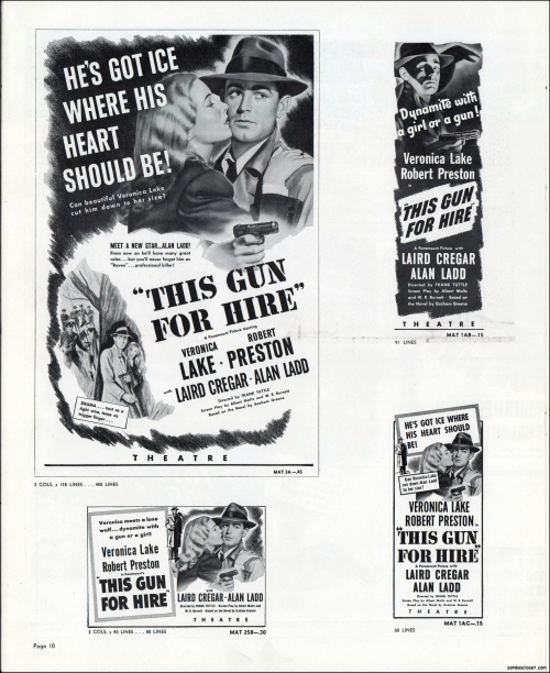 This Gun For Hire Pressbook 10
